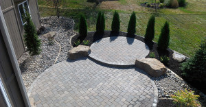 Kansas City Lawn Care At A Home Landscaping From Above